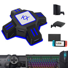 Adaptador portátil do rato do teclado do jogo de vídeo para o interruptor/xbox/ps4/ps3