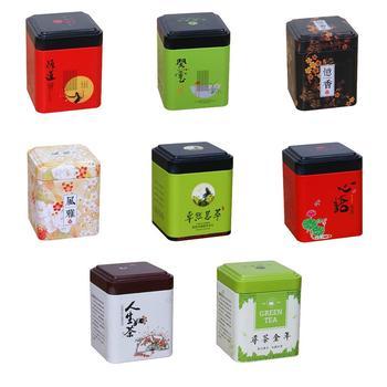 Mini lata de té caja de almacenamiento chino tradicional Vintage estilo sellado...
