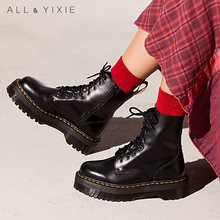 Winter Platform Boots Women 2019 Fashion Genuine Leather Booties Punk Women Boots Women Ankle Boots Snow Boots Zapatos De Mujer goss ken eating and its disorders