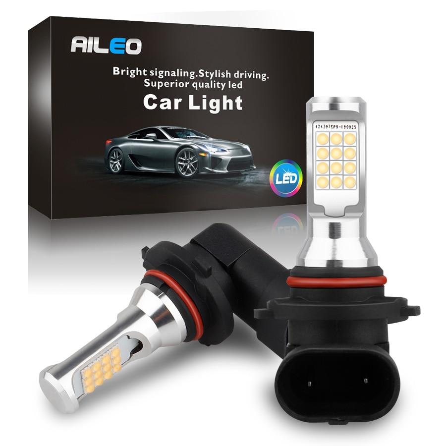 AILEO CANBUS No Error 6000K White High Quality 9005 9006 HB3 HB4 H10 9145 LED Car Fog Lights Bulbs Auto DRL No polarity Fog lamp