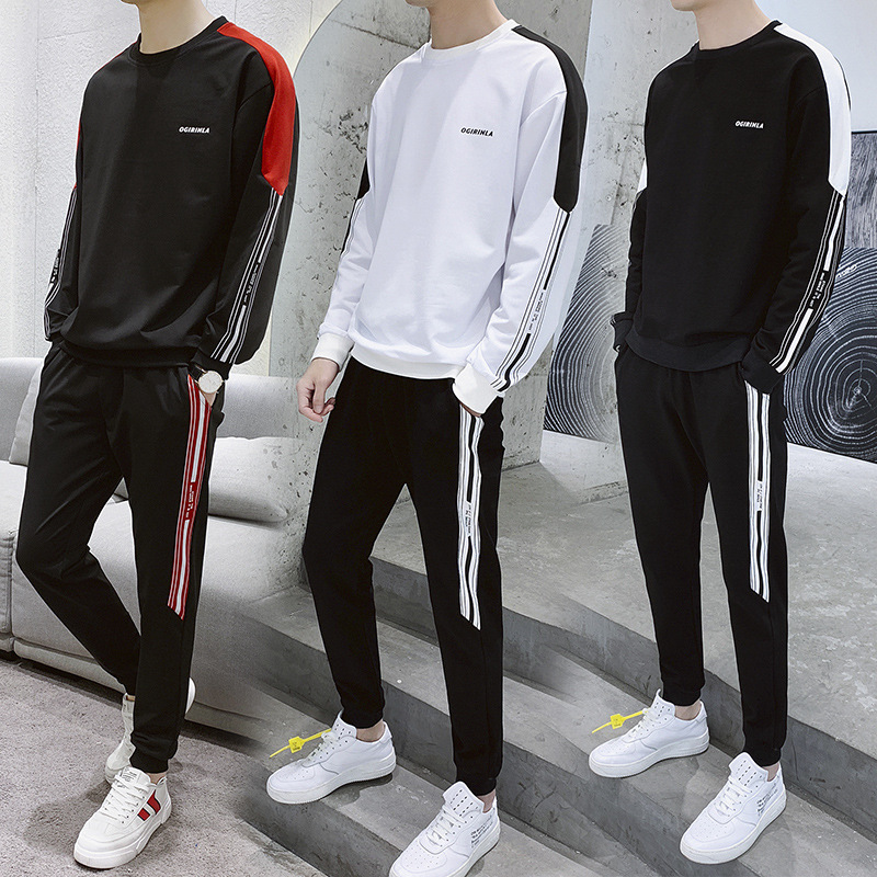 2019 Hoodie Sports Set Spring And Autumn Trend Men Leisure Set Versatile Men'S Wear A Set Of Collocation Handsome Korean