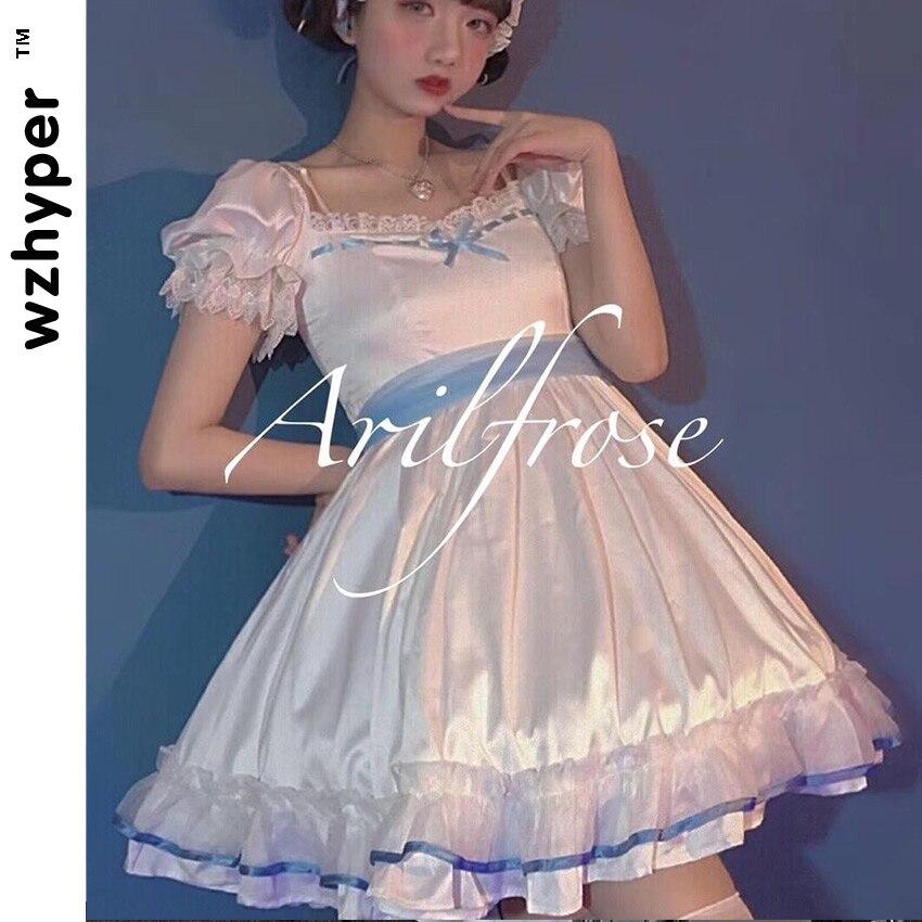 Summer Sleeveless Gothic Lolita Dress Harajuku Street Fashion Cross Cosplay Female Bow Dress Japanese Soft Sister Style Dress