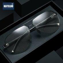 KATELUO clásico 2020 fotocromáticos gafas de sol hombres Polit día gafas de visión nocturna para conducir polarizado UV400 gafas de sol 1902