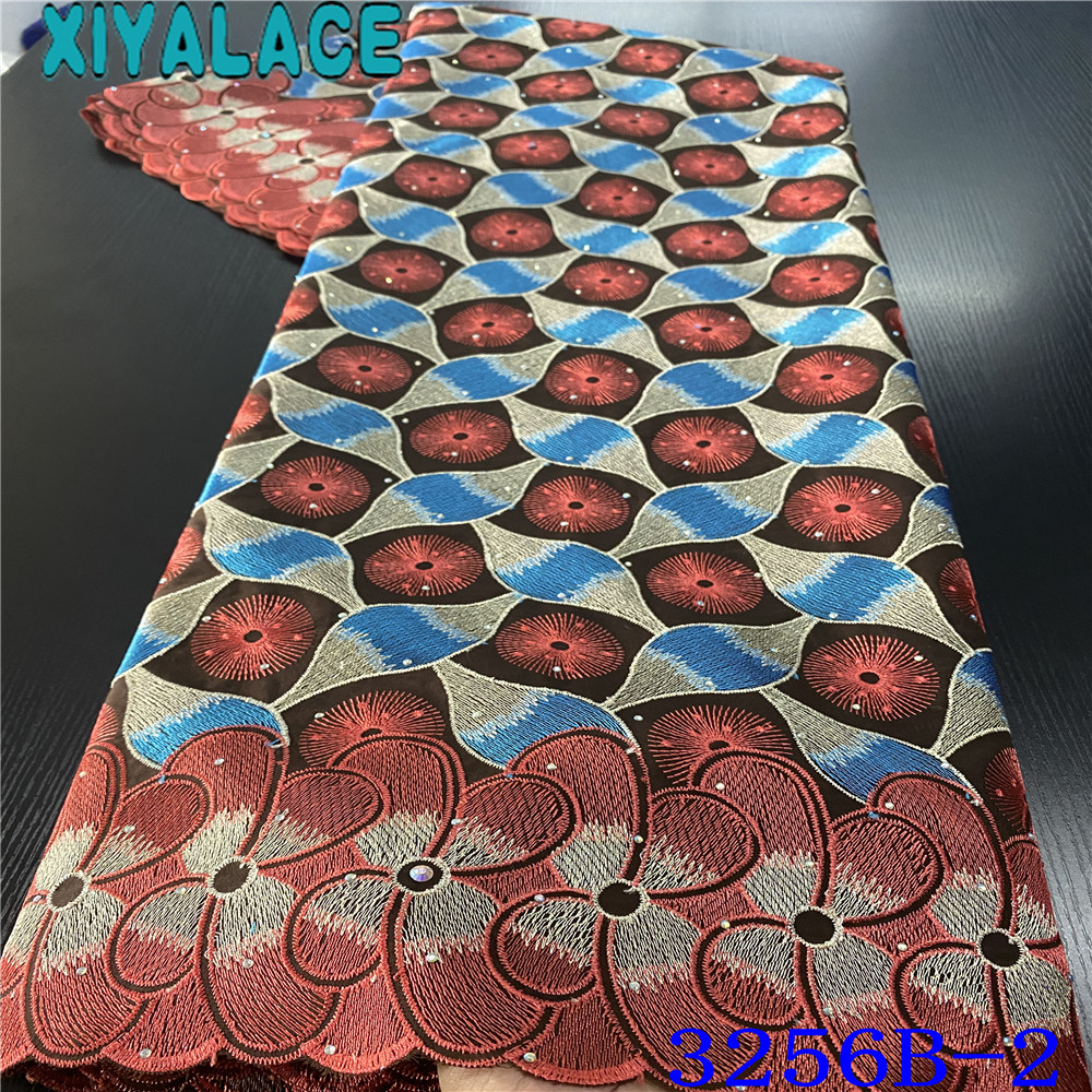 African Dry Cotton Lace Fabrics Latest African Swiss Voile Lace Material Embroidered Brode Suisse Nigerian Lace FabricsKS3256B