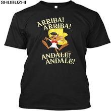 Speedy Gonzales-¡Arriba! ¡Andale! Camiseta sin etiqueta Popular, camiseta negra de algodón, regalo de camisetas de la marca shubuzhi para él sbz4353