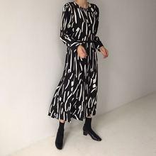 Женское Плиссированное длинное платье элегантное свободное с