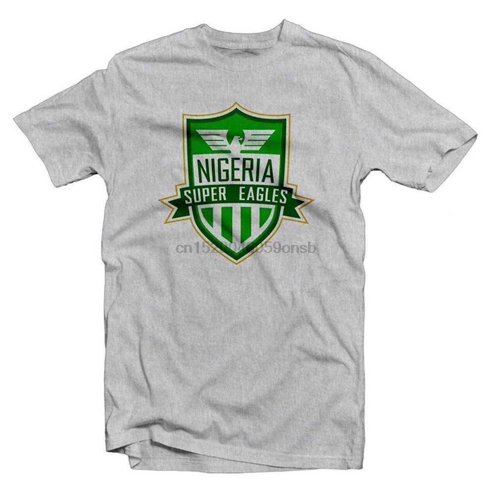 Nuova Estate Calda di Vendita Tee Shirt Nigeria Super Hero Tee Musa Calciatore Stampato Tee Divertente T-Shirt