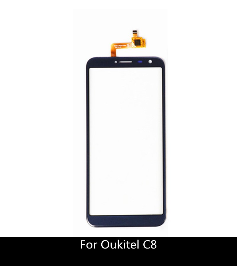 5.5 inch Touch Sensor For Oukitel C8 Touch Screen with Digitizer Glass Panel + 3M Sticker(China)