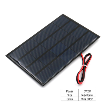 Ηλιακό πάνελ 5v 2w 142x88mm