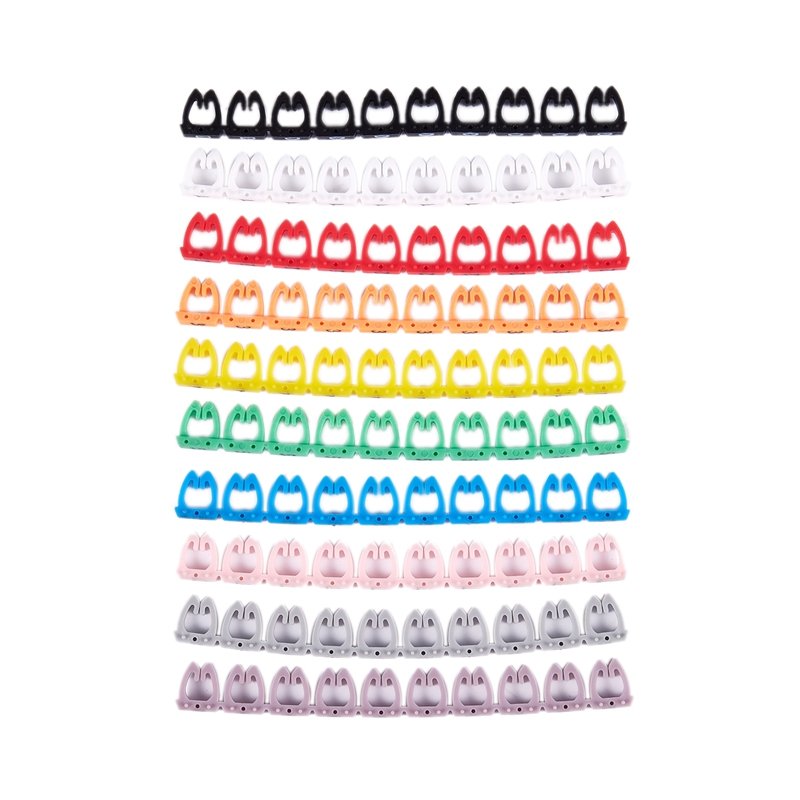 Número 0-9 marcadores de etiquetas de Cable de Color surtidos 10 piezas 100 unids/set 2019 caliente de plástico a prueba de agua etiquetas colgantes para plantas jardinería planta marcador herramientas de etiquetas 20X2cm