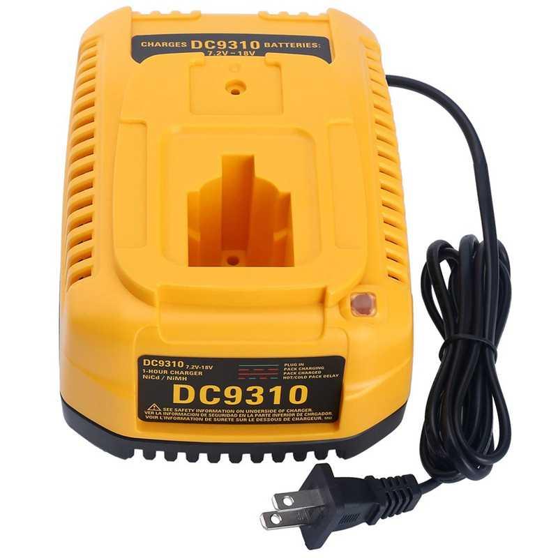 Dc9310 быстро Зарядное устройство для Dewalt 7,2 в-18 в хпр никель-металлогидридного и никель-металл-гидридных или никель Батарея Dc9096 Dc9098 Dc9099 Dc9091 Dc9071 De9057 Dw9096 Dw9094 Dw9072 (США)