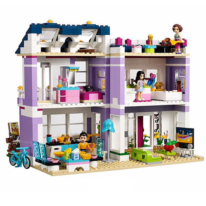 731PCS Legoinglys Friends House Of Emma Castle Playing House Building Blocks Building Blocks Bricks Kids Toys For Girls Children