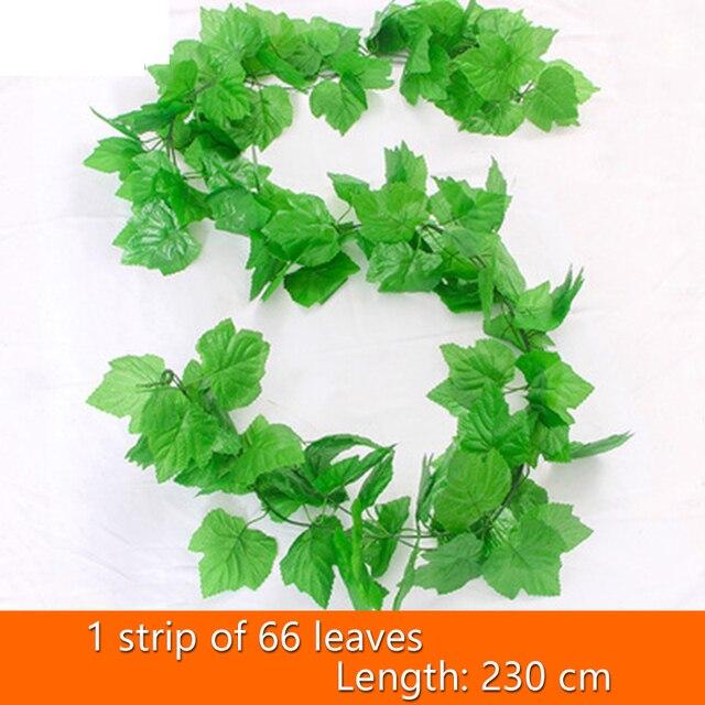 21 Style 1pc high quality Artificial plant Rattan ivy Creeper leaf Vivid Vine home Wedding wall decor garden festival decoration 7