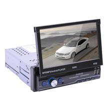 """9702 안 드 로이드 8.1 개폐식 자동차 스테레오 오디오 미러 링크 GPS Navi 블루투스 1DIN 7 """"FM 라디오 WIFI 블루투스 4.0 자동 라디오"""