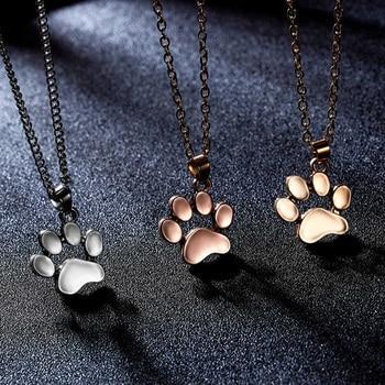 Dog Paw Footprint Necklace 1