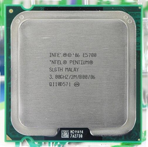 For Intel Pentium Dual-Core E5700 CPU Processor (3.0Ghz/ 2M /800GHz) Socket 775 Free Shipping