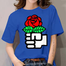 Socialism The Fist and Red Rose Symbol T Shirt