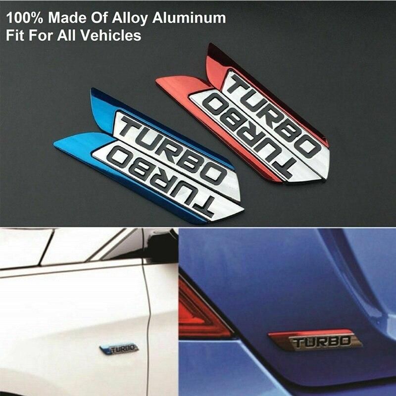 3D металлическая турбо Автомобильная наклейка, эмблема, значок, наклейки для стайлинга автомобиля, аксессуары для украшения своими руками