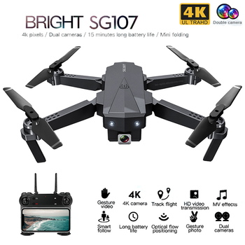ZLRC SG107 Mini Drone with 4K WIFI 1080P FPV Camera 2.4GHZ Quadcopter Optical Flow Quadrocopter Camera Toys VS E58 E68 SG106