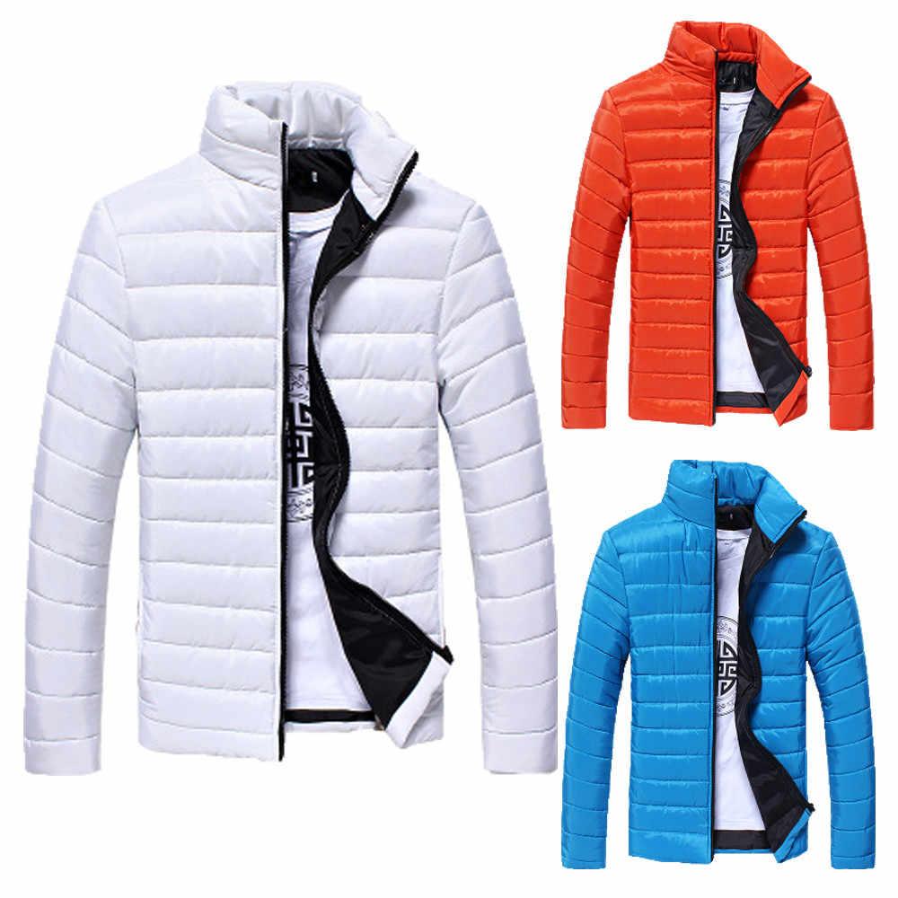 2020 남성 코트와 재킷 겨울 남학생 남성 따뜻한 스탠드 칼라 슬림 겨울 지퍼 코트 아웃웨어 자켓 남성용 스포츠 용 재킷