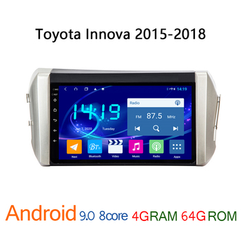 4G+64G car radio for toyota innova 2015 2018 android DVD multimedia GPS navigator auto stereo player coche audio carplay central image
