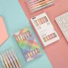 Marker-Pen Highlighter Cute Macron School-Supplies Inclined-Head Fluorescent Office Multicolor