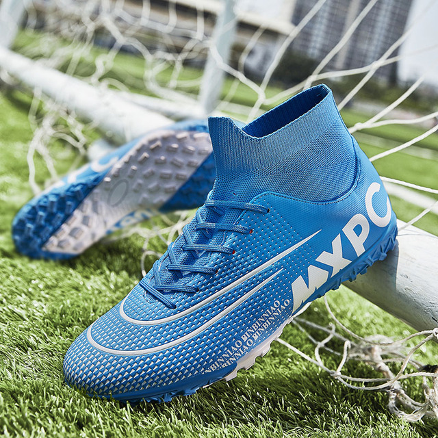 Outdoor Men Soccer Shoes Customize TF and FG Football Boots High Ankle Kids Cleats Training Sport Unisex Training Sneakers
