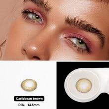 LAREEN – lentilles de Contact colorées pour les yeux, gamme caraïbes, 2 pièces