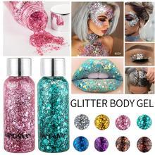 2019 New Holographic Mermaid Glitter Eyeshadow Gel Body Face Eye Liquid Loose Sequins Pigments Makeup Cream Festival Gems