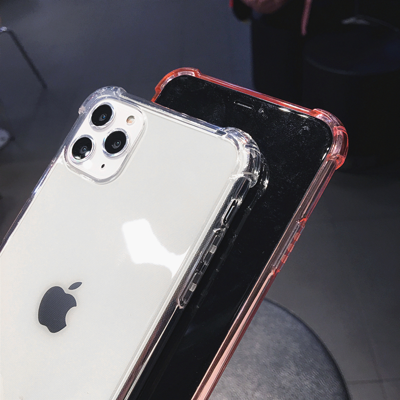 H44b0f14d684b4c40b3befc3e94e4dd9dy Capinha celular case à prova de choque transparente para iphone 12 mini 11 pro max xs xr x 6s 7 8 mais claro anti-knock escudo do telefone macio tpu capa traseira