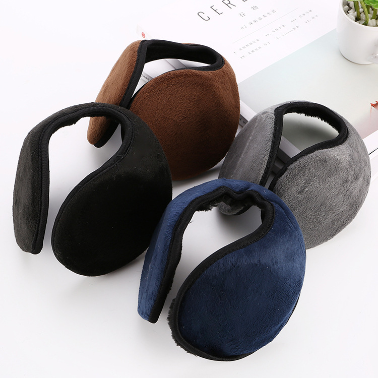 2019 New Warm Winter Earmuffs For Women Men Solid Color Earmuffs Male Print Earmuffs Female Keep Ears Warm