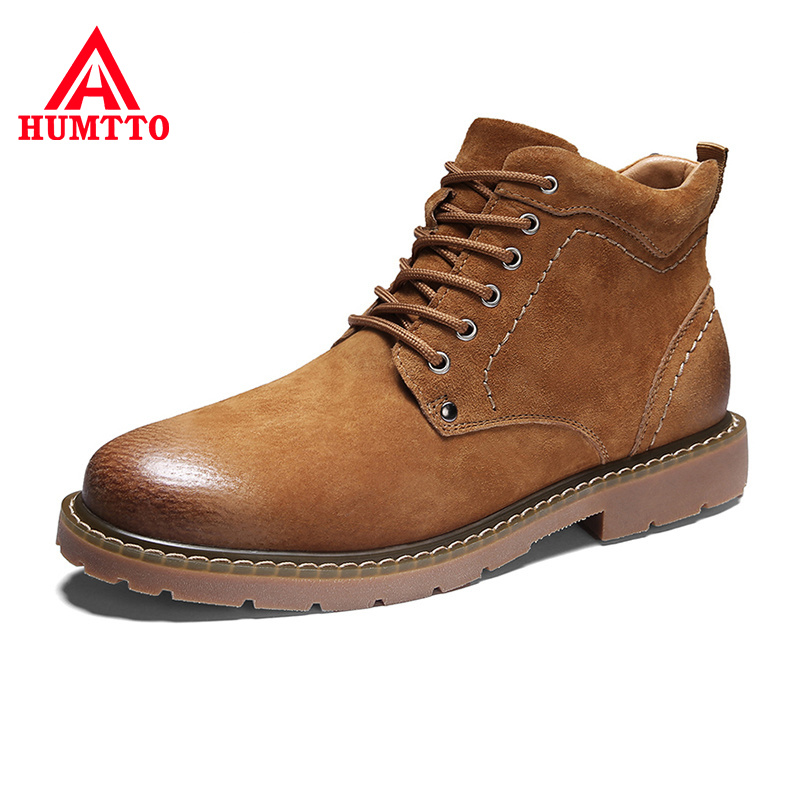 Promo Winter Lace-up Warm Ankle Boots Men Luxury Brand High Quality Genuine Leather Fashion Comfy Design Casual Mens Shoes Big Size