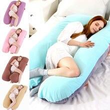 Подушка для беременных женщин, большой размер, комфортная u-образная подушка для всего тела, поддержка для беременных, u-образная хлопковая подушка для кровати