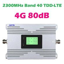 Répéteur 4G LTE TDD B40 2300 MHZ bande 40 TD LTE + amplificateur de signal cellulaire amplificateur de modem réseau internet 0.5 watts 27dBm 80db