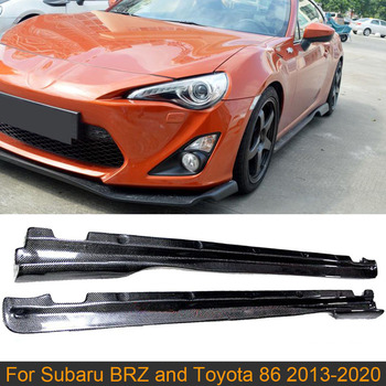 Car Side Skirts Bodykit For Subaru BRZ Toyota FT86 GT86 2013-2020 Car Body Kits Side Skirts Apron Lip Trim Cover Carbon Fiber image