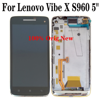 Shyueda 100% Original New with frame For Lenovo Vibe X S960 5 LCD Display Touch Screen Digitizer