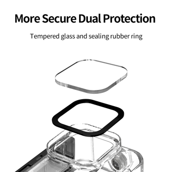 TELESIN 50M Waterproof Case Underwater Tempered Glass Diving Housing Cover Lens Filter for GoPro Hero 9 Black Camera Accessories 9