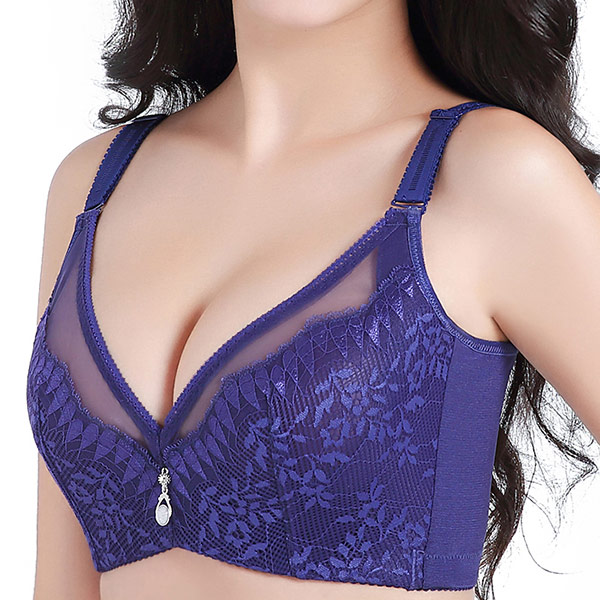 Bras Full Cup Ultra Thin Sexy Underwear Gather Together Adjust Woman Factory Lingerie Bralette Plus Size 34 36 38 40 42 B C D Bh
