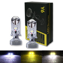 2PCS Car Headlight Bulbs LED High Quality H4 Car Styling High Low Beam Waterproof 3000K 4300K 6500K 12V 24V 40W Head Light Lamp(China)