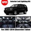 14 Bulbs White LED Car Light Interior Kit Fit For Chevrolet Tahoe 2007-2010 2011 2013 2014 Map Dome Trunk Cargo License Lamp 1