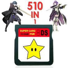 2021 nova chegada 510 em 1 nintendo ds jogos cartucho cartão super combo para nds 3ds zelda pokemon mario nds jogo