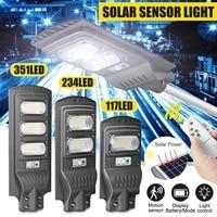 120W/240W/360W LED Außen Beleuchtung Wand Lampe Solar Straße Licht IP66 Solar Powered Radar bewegung Licht Control für Garten Hof