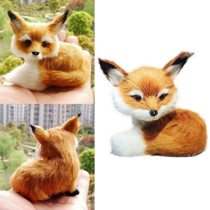 Simulation Small Foxes Toy Mini Doll Soft Cute Animals Pillow Cushion Small Fox Girls Children Doll Gifts Kids Toy