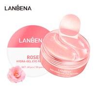 Rose Hydra Gel Eye Mask Lady 60pcs Collagen Eye Patches Remove Puffy Eyes Original Nourish Repair Micro Molecule Brighten Skin 2