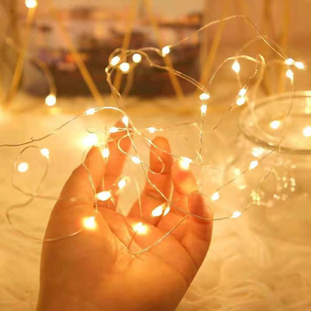 LED Fairy светильник s медный провод Светильник строка Батарея на солнечных батареях Рождество светильник гирлянда для свадьбы Новый Год Вечерние внутренний Декор для дома|Светодиодная лента|   | АлиЭкспресс