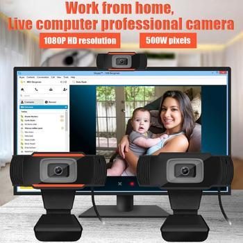 Kamera internetowa HD kamera internetowa dysk USB wbudowane podwójne mikrofony do transmisji na żywo wideokonferencje praca konferencyjna na minikomputer tanie i dobre opinie centechia 1080 p (full hd) Brak CMOS Driverless Superior quality glass lens 12 0M pixels 640x 480 1920*1080 30fps 140cm