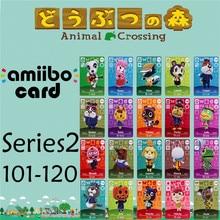 Пересечение животных подлинных данных новые горизонты игры Марио карты для NS переключатель 3дс набор NFC карт Ряда2 101-120 матовый материал