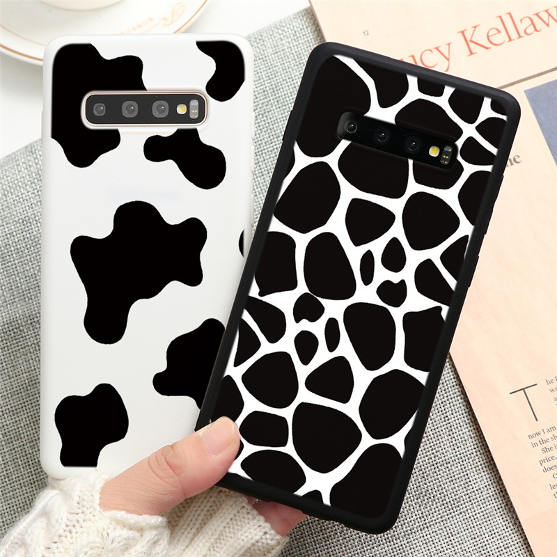 Cow Print Case For Samsung Galaxy S20 Ultra S10 S8 S9 Plus S10E M30S A10 A20 A30 A40 A50 A70 A51 A71 A20E Note 8 9 10 TPU Cover
