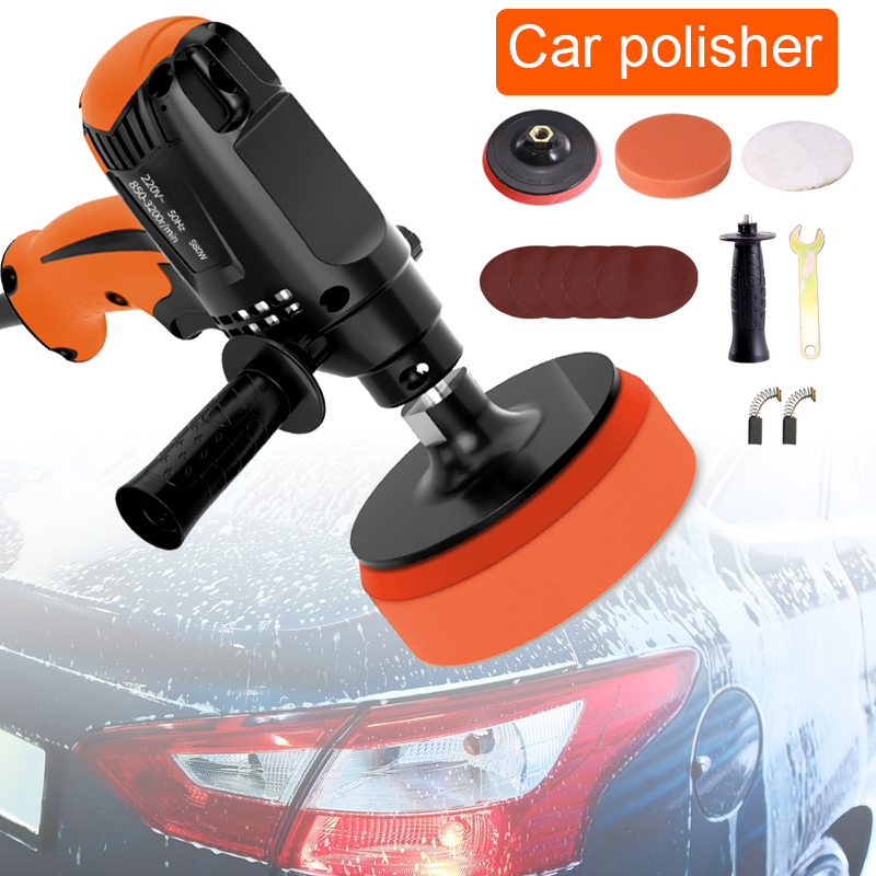 Electric Car Polisher 220V 980W Car Polishing Machine Six Gears Adjustable Speed  Car Grinder Car Machine Polisher Power Tool