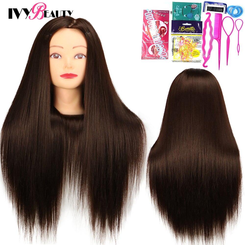 Для женщин манекен головы куклы для прически Парикмахерская 65 см парикмахерские развивающие парикмахерский манекен Учебные головы-манеке...